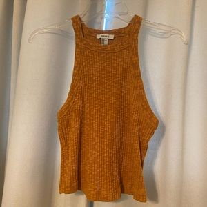 Mustard Sweater Crop Top Tank - New